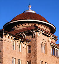 image of turret on historic VA building